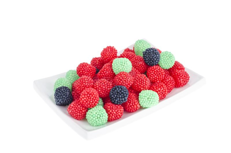 Chewy colorful candies in form of berries. stock images