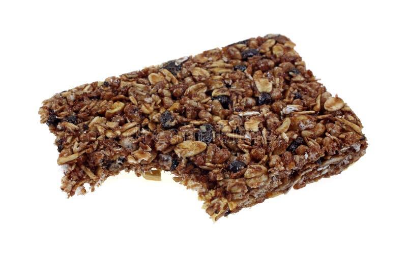 Chewy Granola baru kąsek zdjęcie stock