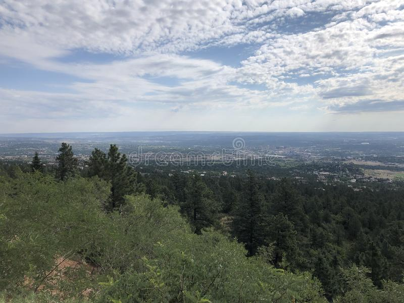 Cheyenne Cañon Park. Colorado Springs City views stock photography