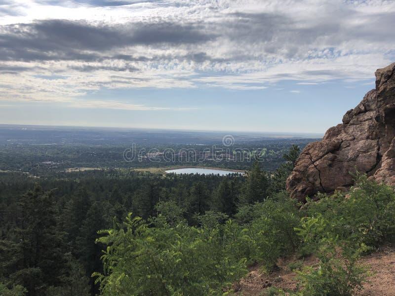 Cheyenne Cañon Park. Colorado Springs City views stock image