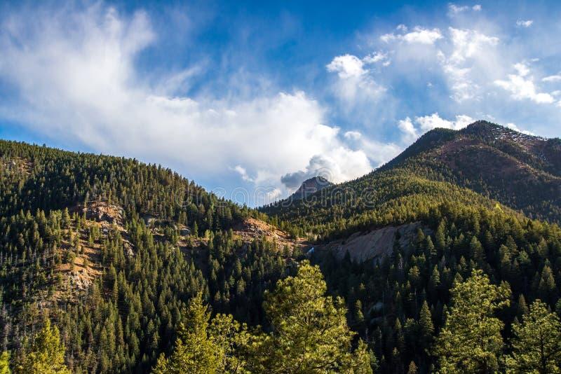 Cheyenne Canyon Colorado Springs du nord photos stock