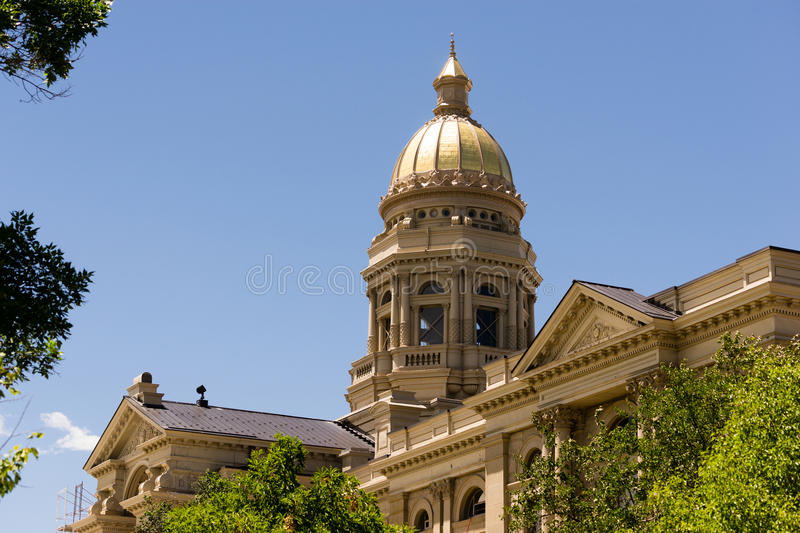 Cheyenne Wyoming Capital City Downtown Capitol Building Legislative Center. This architectural marvel is the place Wyoming's Government works royalty free stock images