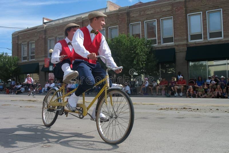 Cheyenne, Wyoming, de V.S. - 26-27 Juli, 2010: Parade in Cheye van de binnenstad royalty-vrije stock foto