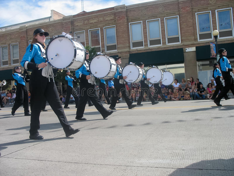 Cheyenne, Wyoming, de V.S. - 27 Juli, 2010: Parade in Cheyenne van de binnenstad, Wyoming, tijdens de jaarlijkse Grensdagen stock foto