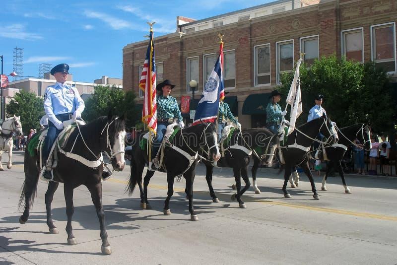 Cheyenne, Wyoming, Etats-Unis - 26-27 juillet 2010 : Défilé dans Cheye du centre photographie stock