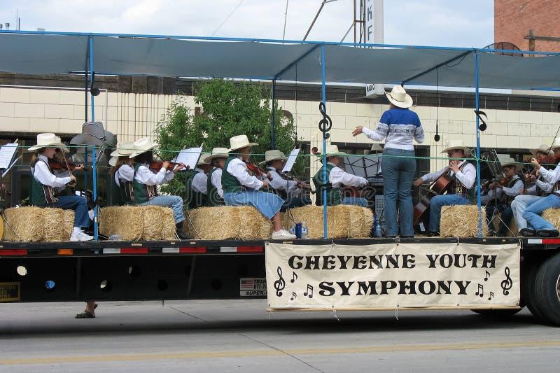 Cheyenne, Wyoming, Etats-Unis - 26-27 juillet 2010 : Défilé dans Cheye du centre image stock