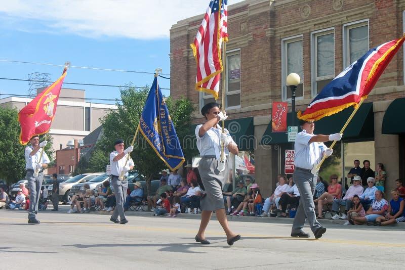 Cheyenne, Wyoming, Etats-Unis - 26-27 juillet 2010 : Défilé dans Cheye du centre images stock