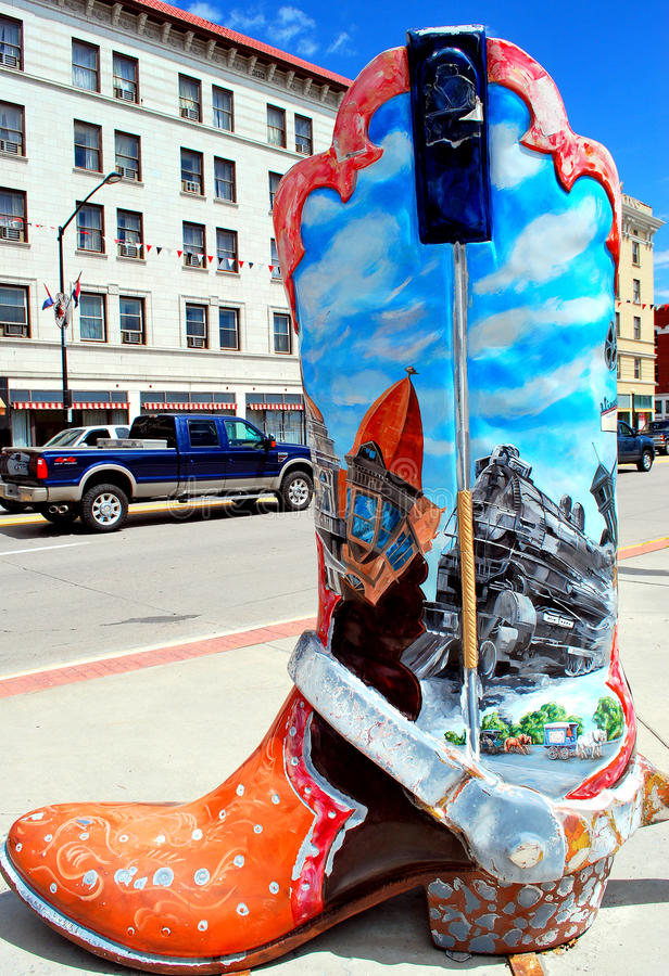 Tourismus Cheyennes, Wyoming. stockbilder