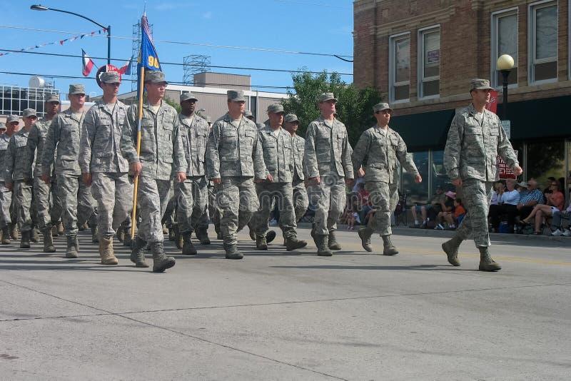 Cheyenne, Wyoming, U.S.A. - 26-27 luglio 2010: Parata in Cheye del centro fotografia stock libera da diritti