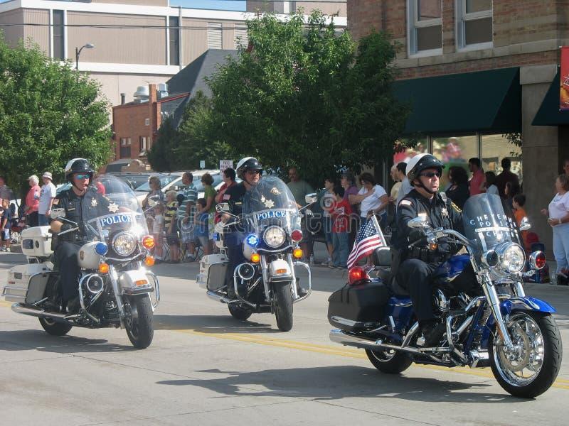 Cheyenne, Wyoming, U.S.A. - 27 luglio 2010: Sfoggi a Cheyenne del centro, Wyoming, durante i giorni di frontiera annuali immagini stock