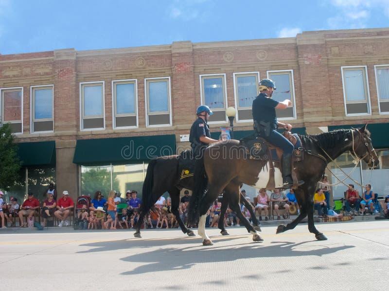 Cheyenne, Wyoming, U.S.A. - 27 luglio 2010: Sfoggi a Cheyenne del centro, Wyoming, durante i giorni di frontiera annuali fotografia stock