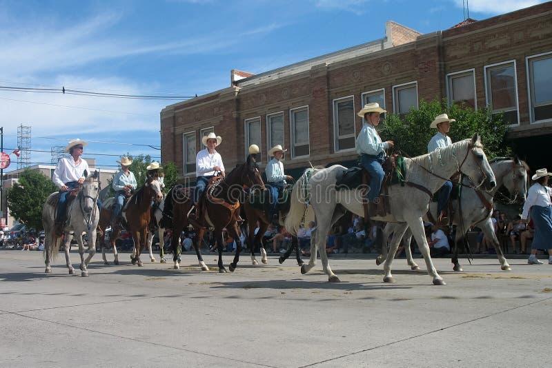 Cheyenne, Wyoming, USA - July 26-27, 2010: Parade in downtown Cheye stock image