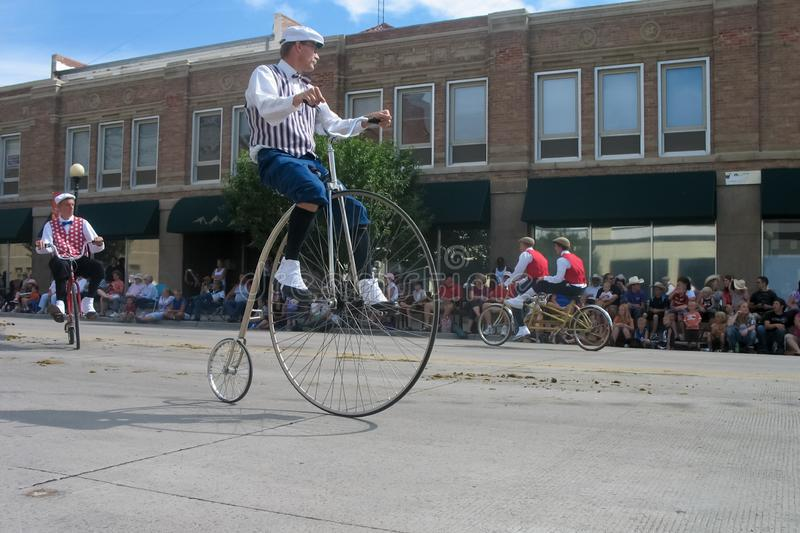 Cheyenne, Wyoming, USA - July 26-27, 2010: Parade in downtown Cheye stock photography