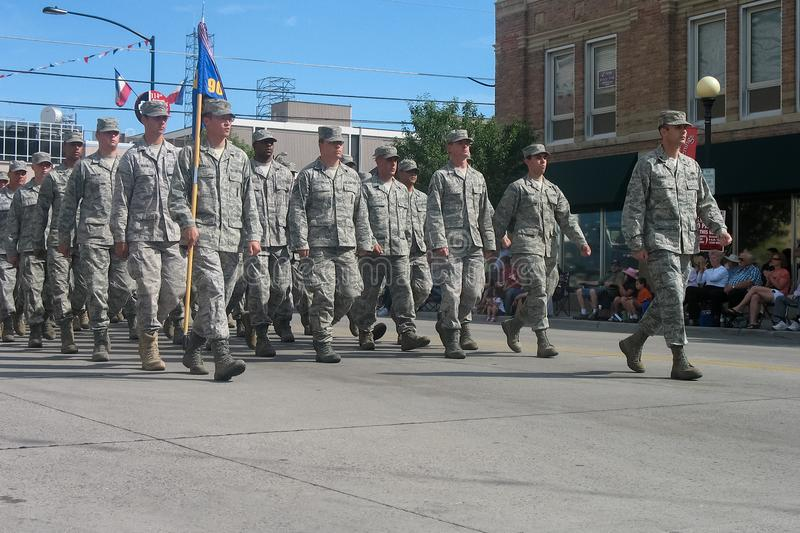 Cheyenne, Wyoming, USA - July 26-27, 2010: Parade in downtown Cheye royalty free stock photography