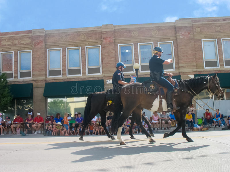 Cheyenne, Wyoming, USA - July 27, 2010: Parade in downtown Cheyenne, Wyoming, during the Frontier Days annual stock photography