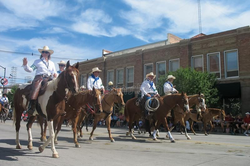 Cheyenne, Wyoming, USA - July 26-27, 2010: Parade in downtown Cheye stock images