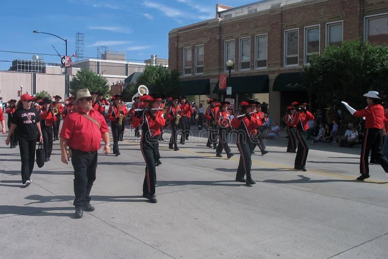 Cheyenne, Wyoming, usa - Lipiec 26-27, 2010: Parada w w centrum Cheye zdjęcia royalty free