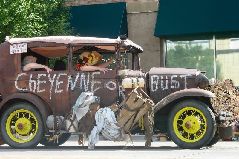 Cheyenne, Wyoming, usa - Lipiec 26-27, 2010: Parada w w centrum Cheye obrazy royalty free