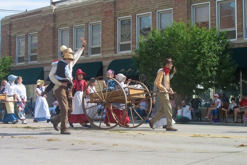 Cheyenne, Wyoming, usa - Lipiec 26-27, 2010: Parada w w centrum Cheye obraz stock