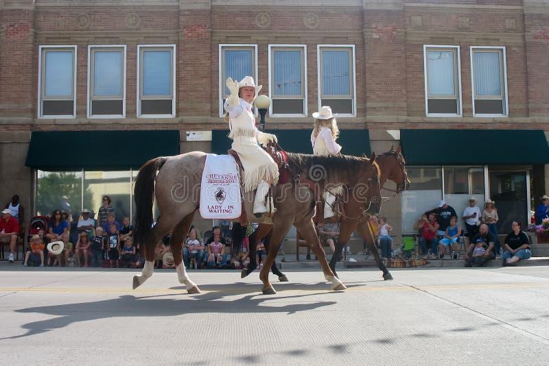 Cheyenne, Wyoming, usa - Lipiec 26-27, 2010: Parada w w centrum Cheye obrazy stock