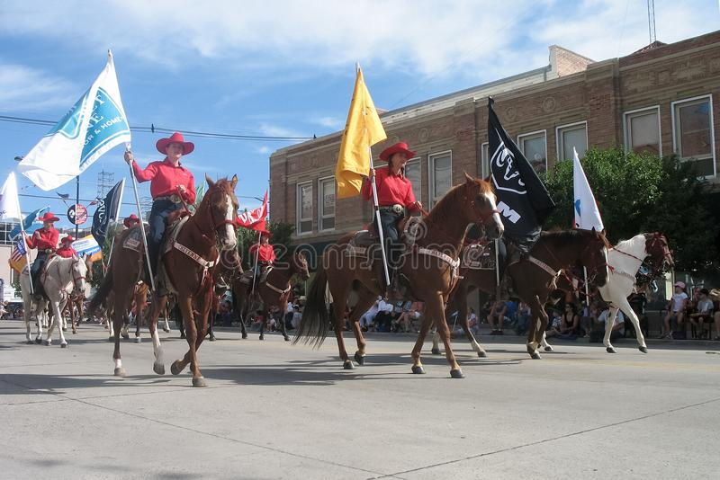 Cheyenne, Wyoming, usa - Lipiec 26-27, 2010: Parada w w centrum Cheye fotografia stock