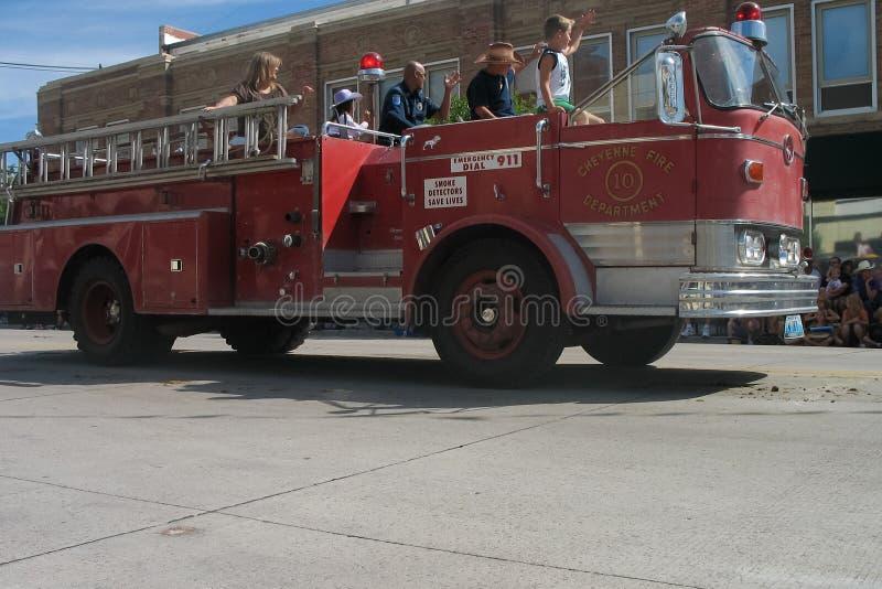 Cheyenne, Wyoming, usa - Lipiec 26-27, 2010: Parada w w centrum Cheye zdjęcia stock