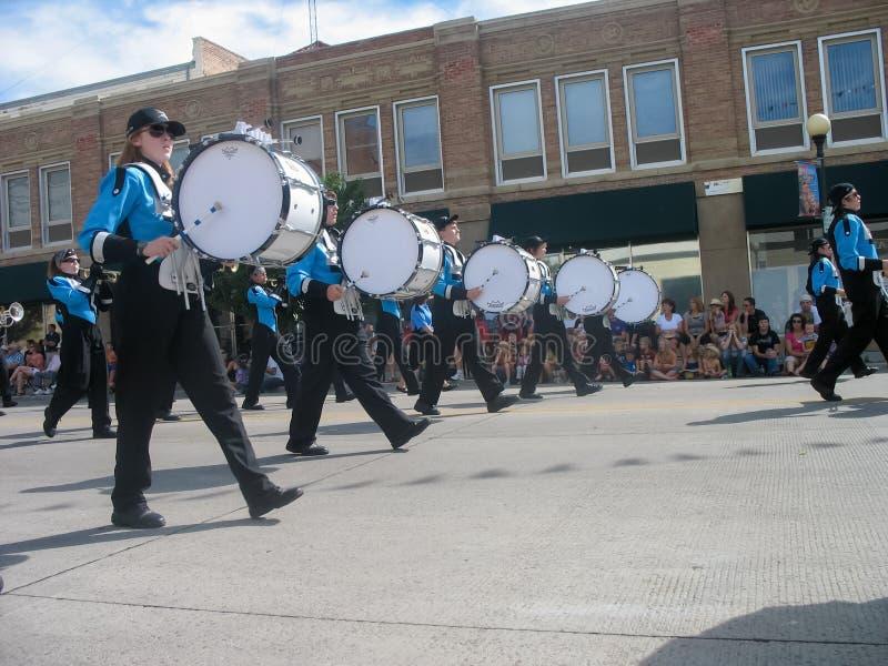 Cheyenne, Wyoming, usa - Lipiec 27, 2010: Paraduje w w centrum Cheyenne, Wyoming, podczas Nadgranicznych dni rocznych zdjęcie stock