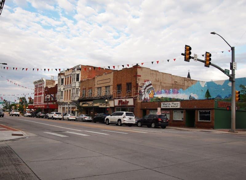Cheyenne Wyoming W Lincoln Way på Carey Ave royaltyfri foto