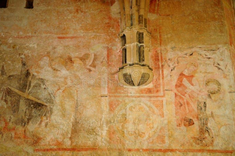 Cheylat kaplica Świątobliwi Genies w Dordogne fotografia royalty free