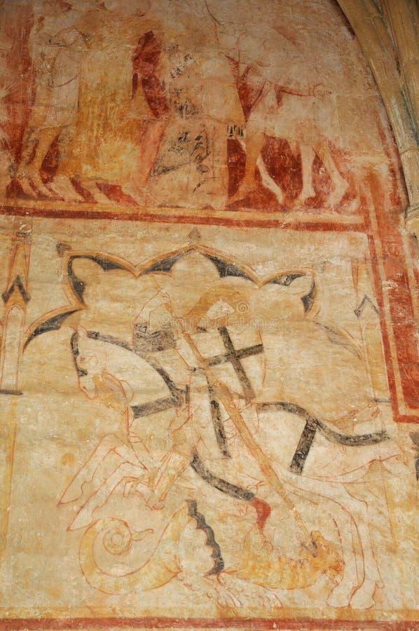 Cheylat kaplica Świątobliwi Genies w Dordogne obraz stock