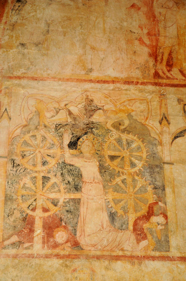 Cheylat kaplica Świątobliwi Genies w Dordogne obraz royalty free