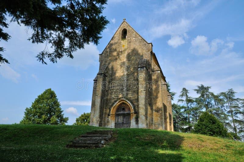 Cheylat kaplica Świątobliwi Genies w Dordogne fotografia stock