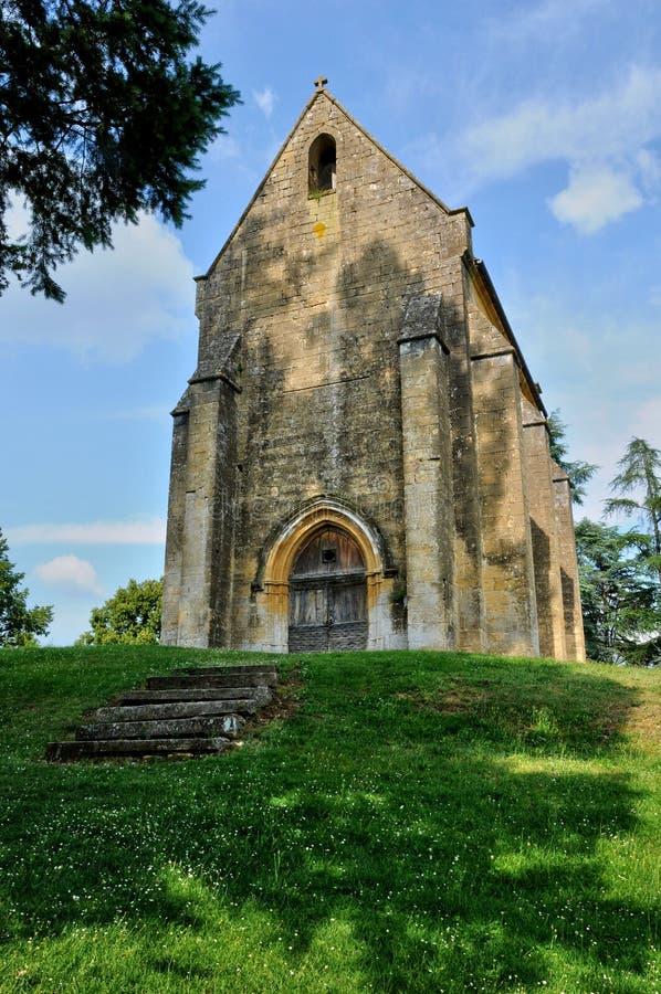 Cheylat kaplica Świątobliwi Genies w Dordogne zdjęcie royalty free