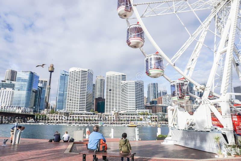 Chez Darling Harbour avec une partie de Ferris photo libre de droits