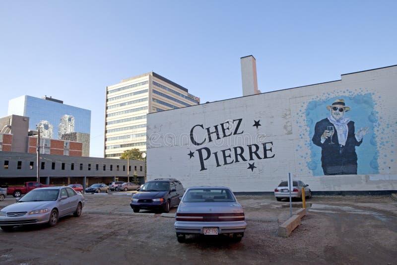 Chez Pierre, Edmonton, Canada stock afbeelding