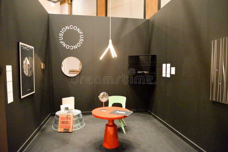 CHGO DSGN, en viktig utställning av nytt objekt och grafisk design arkivbilder