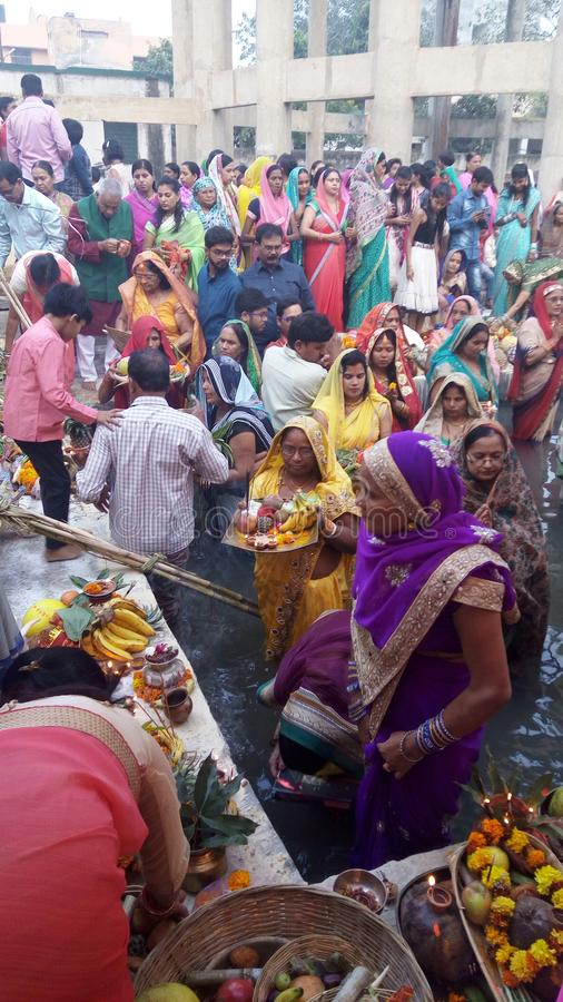 Chhat Puja photographie stock