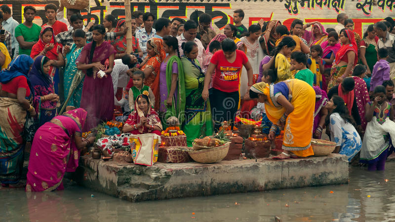 Chhath festival royaltyfria bilder