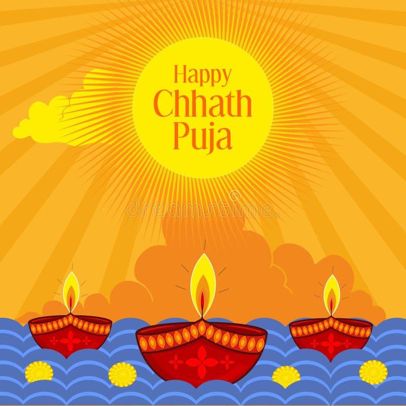 Chhath heureux Puja Festival indien photo libre de droits