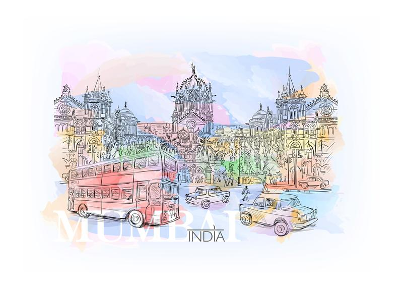 Chhatrapati Shivaji ilustração stock