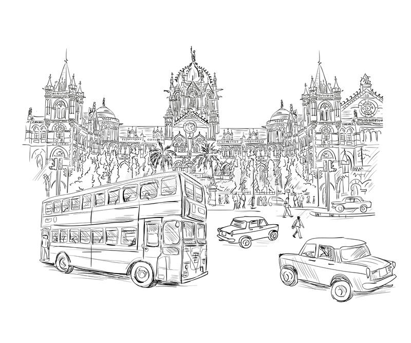 Chhatrapati Shivaji illustration de vecteur