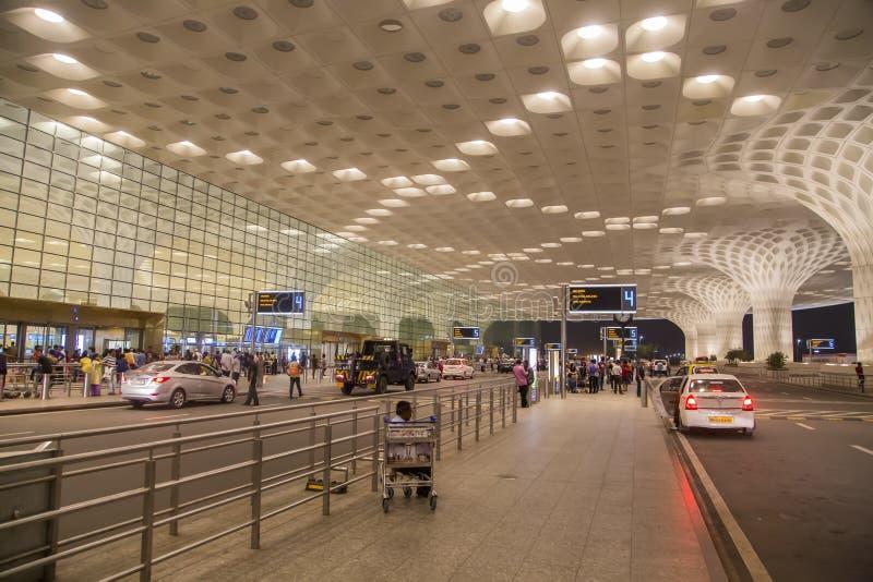 Chhatrapati Shivaji International Airport i Mumbai, Indien royaltyfri fotografi