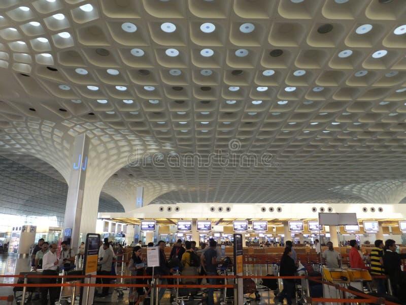 Chhatrapati Shivaji Maharaj International Airport in Mumbai, India royalty-vrije stock foto