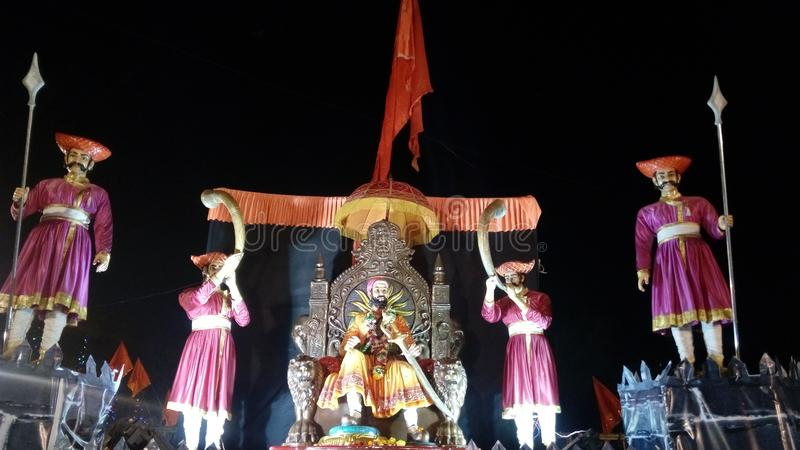 Chhatrapati Shivaji Maharaj Maratha Warrior imagens de stock royalty free