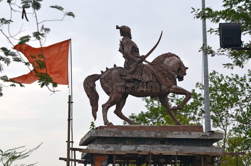 Chhatrapati Shivaji Maharaj Statue stock foto's