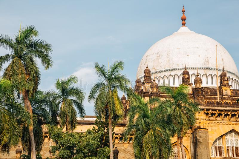 Chhatrapati Shivaji Maharaj Vastu Sangrahalaya Prince of Wales Museum in Mumbai, Indien royaltyfria foton