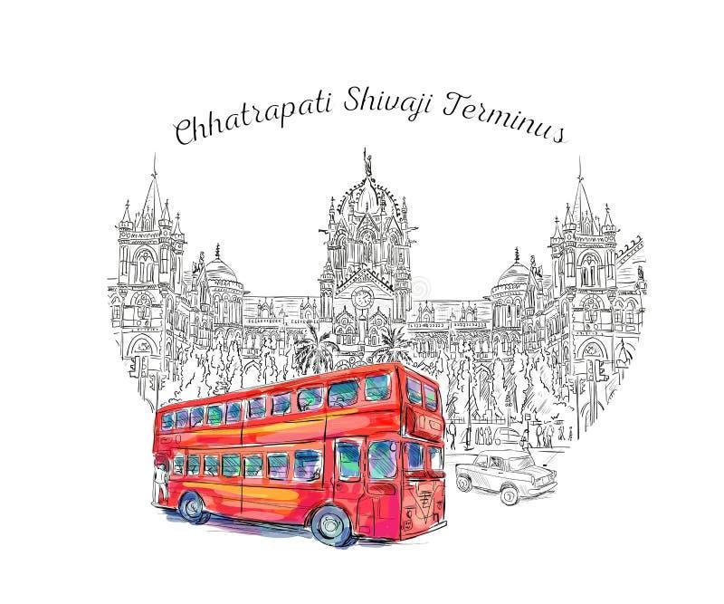 Chhatrapati Shivaji stock illustration