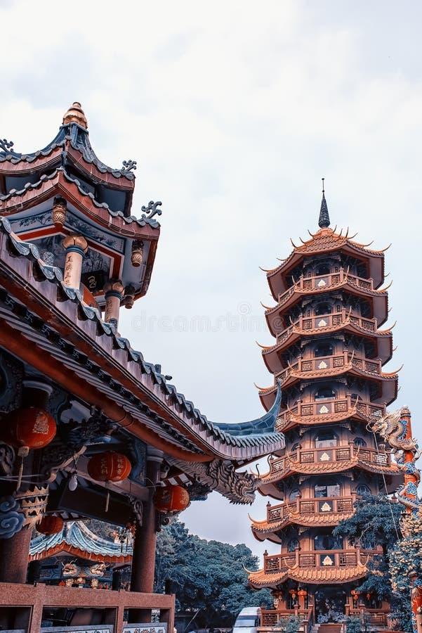 Chińska architektura w Bangkok zdjęcie royalty free