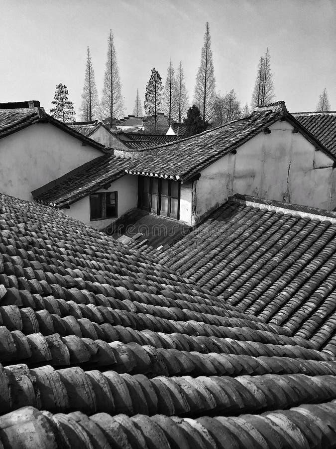 Chińska wioska w zimie obrazy stock