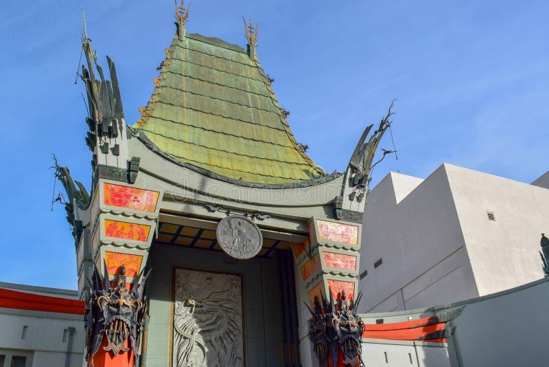 Chiński teatr w Hollywood bulwarze, Los Angeles zdjęcie royalty free